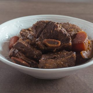 Korean Braised Beef Short Rib (Galbi Jjim)