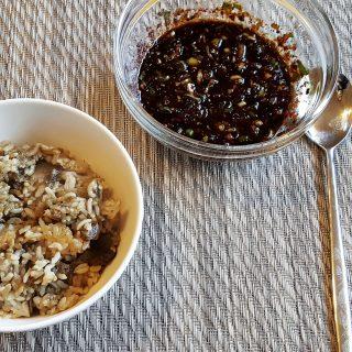 Baek Jong Won's Eggplant Rice (Gaji Bap)