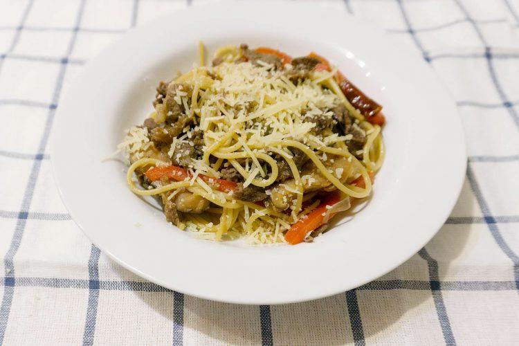 korean bulgogi spaghetti aglio olio
