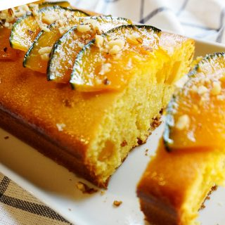 Korean Sweet Pumpkin Pound Cake (Kabocha Pound Cake)