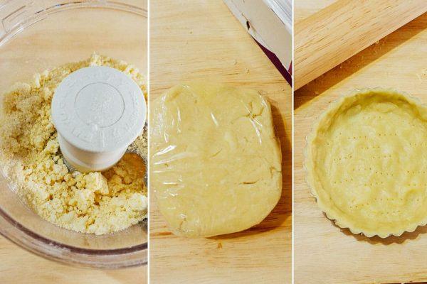 korean sweet potato tart (goguma tart) - tart crust prep