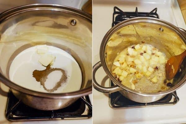 korean sweet potato tart (goguma tart) prep