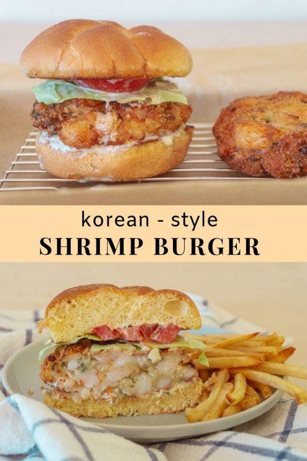 Korean Stye Shrimp Burger