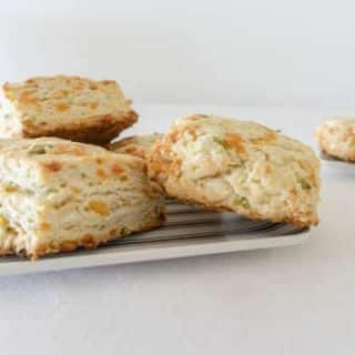 Cheddar Cheese and Scallion Scone