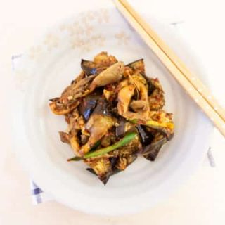 Eggplant Mushroom Soy Sauce Side Dish (Muchim)