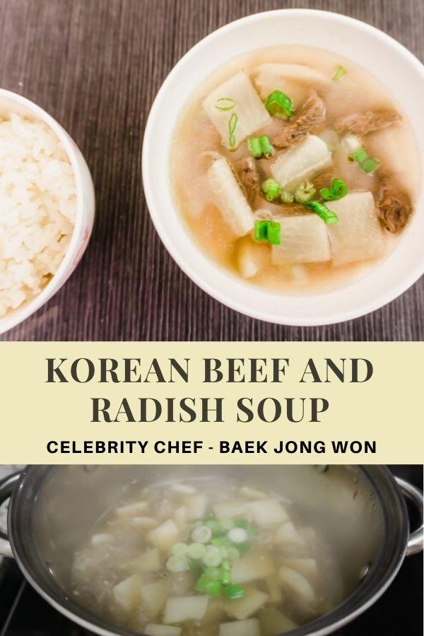 Korean Celebrity Chef Baek Jong Won's Beef and Radish Soup
