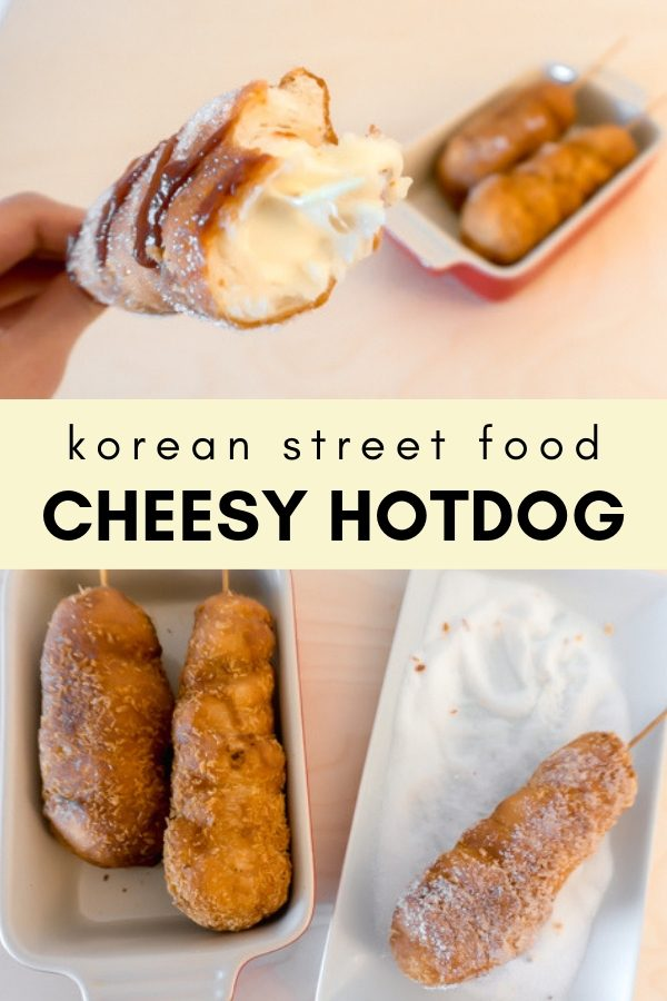 Korean Street Food - Cheesy HotDog