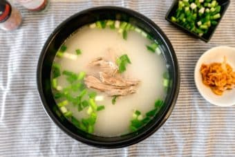 Seolleongtang (sul lung tang) Korean rich and milky beef broth