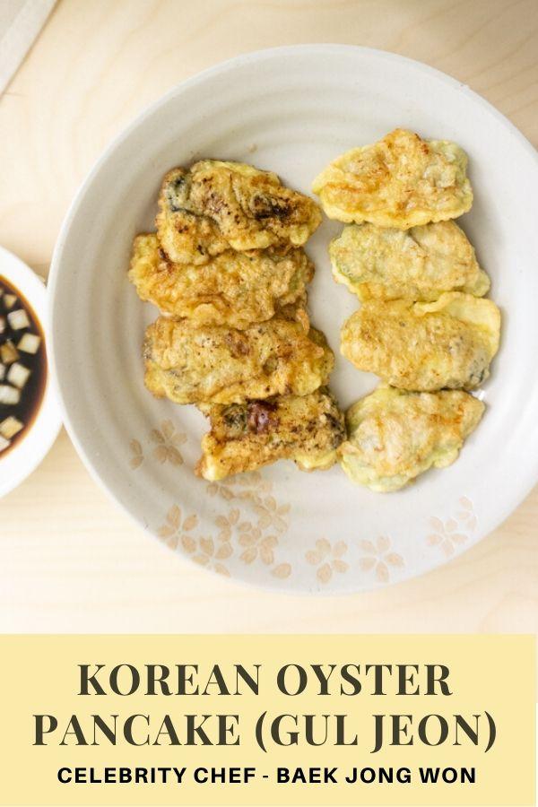 baek jong won's korean oyster pancake (gul jeon)