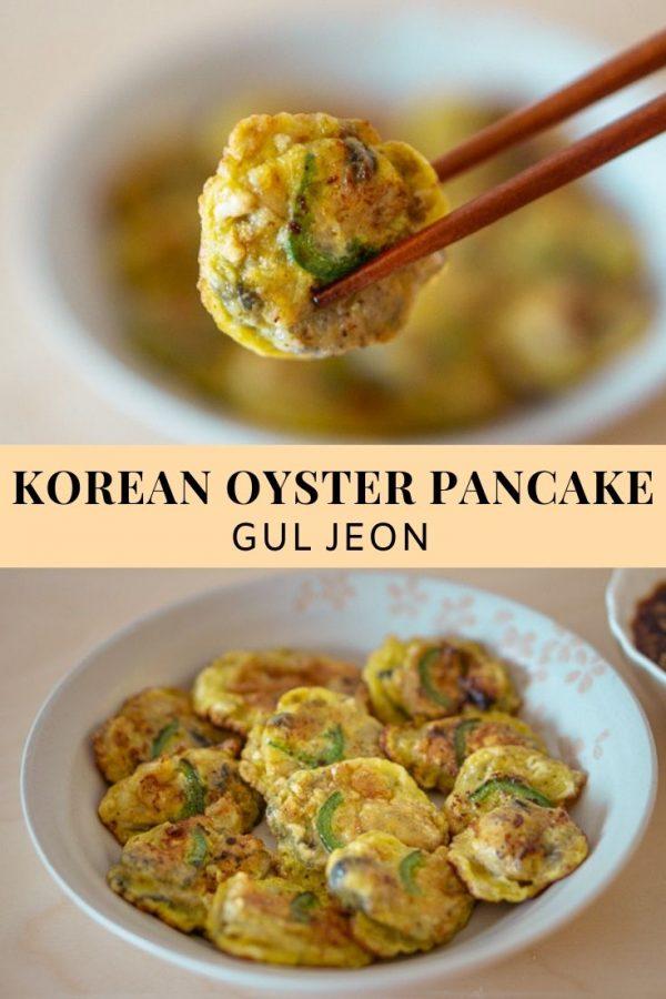 korean oyster pancake (gul jeon) - baek jong won
