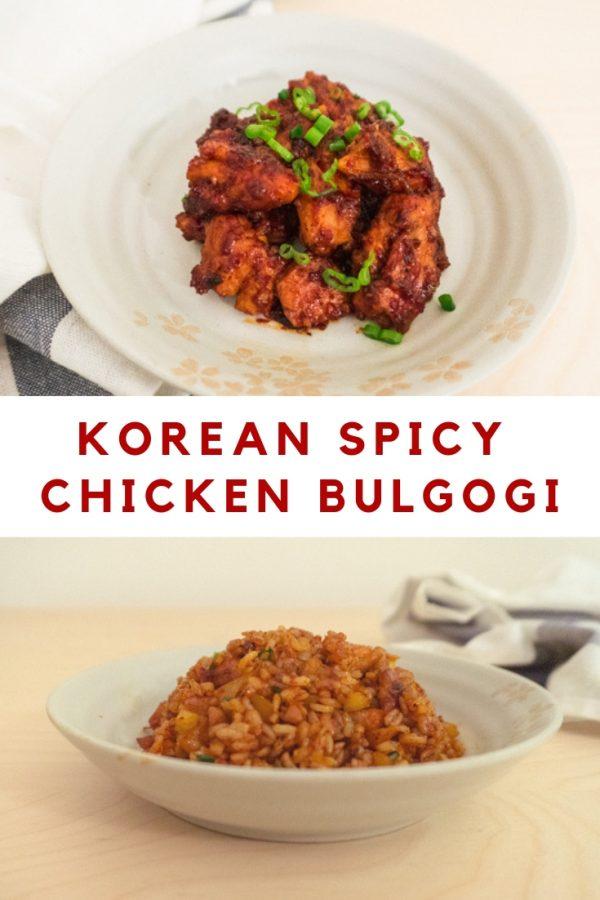 korean spicy chicken bulgogi