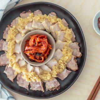 Instant Pot Korean Pork Belly (Bossam) with Garlic Sauce