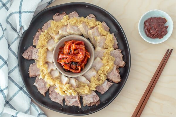 Instant Pot Korean Pork Belly (Bossam) with Garlic Sauce