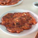 crispy kimchi jeon by Baek Jong Won