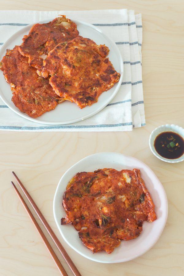 Kimchi Jeon (Korean Kimchi Pancake)