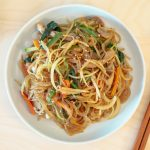 Kongnamul Japchae (Korean Stir-Fried Soybean Sprout Glass Noodles)