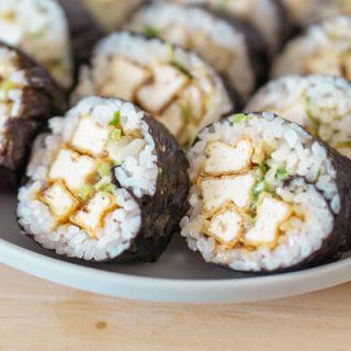 Korean Fried Tofu Gimbap – Soo-mi's Side Dish