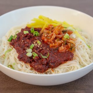 Bibim guksu (Korean Spicy Cold Noodles) – Kang's Kitchen