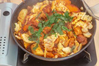 Dak Galbi (Korean Stir-Fried Spicy Chicken)
