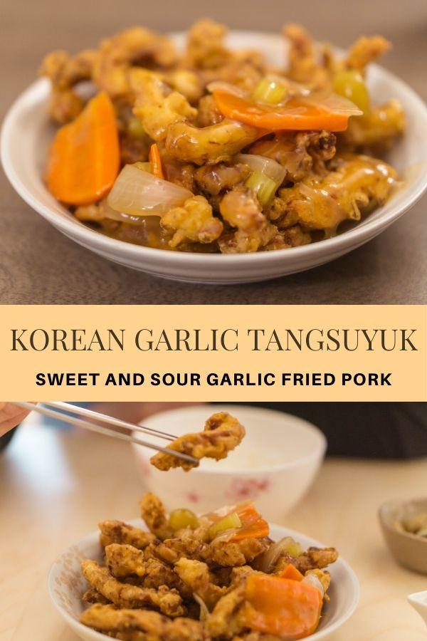 Korean Garlic Tangsuyuk (Sweet and Sour Garlic Fried Pork)