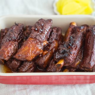 Korean Sweet and Salty Pork Ribs (Soy Sauce based)