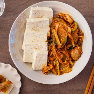 Dubu Kimchi (Kimchi Pork stir-fried with Tofu) – Baek Jong Won